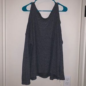 AEO Cold shoulder fuzzy thermal